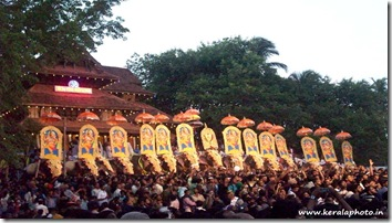 thrissur pooram 2011 kerala photos exhibition elephants kudamatam