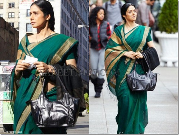 Sridevi_Green_Cotton_Saree