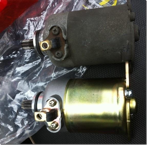 Kymco 光陽 GP/VP125 DIY更換啟動馬達7441