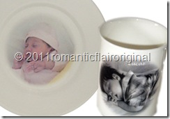 Baby Photo Plates cmv