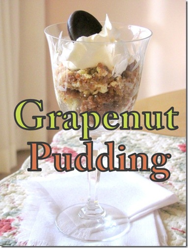 grapenut pudding