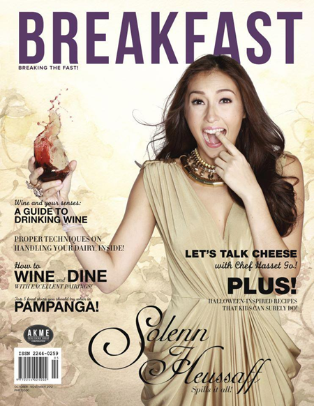Solenn Heussaff covers Breakfast Oct-Nov 2012