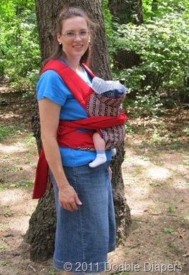 Andrea with Nolan in Kozy Carrier