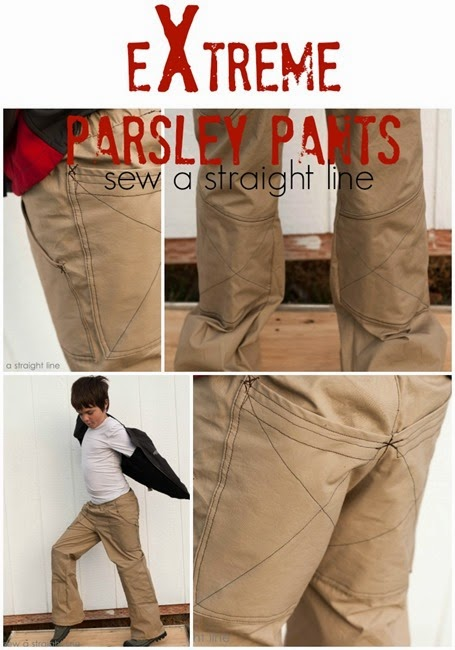 extreme parsley pants sew a straight line