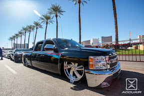 Ernie Macias&#039; amazing SEMA project Chevy Silverado Equipped with AccuAir e-Level.