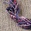 Фиолетовый сумрак. Бусы из пластики-1.jpg