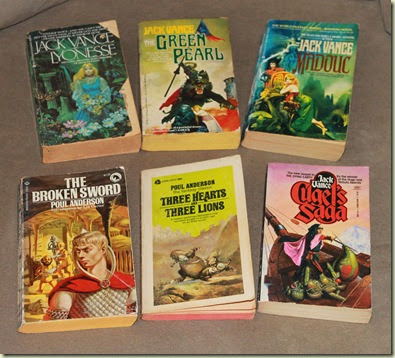 livros de Jack Vance & Poul Anderson