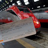 taking the FRECCIABIANCA in Pozzolengo, Brescia, Italy