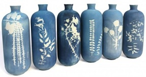 studio glithero blueware vases