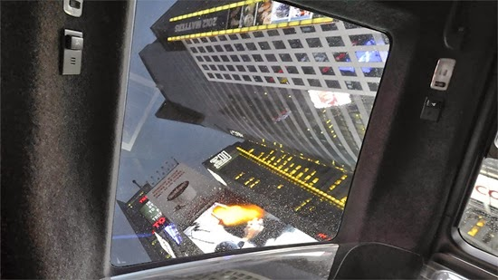 NV200™ Taxi Interior Details Times Square view