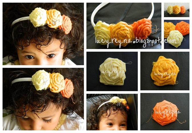 Reyna orozco meraz rosas de tela decorativas for Diademas de tela para el cabello
