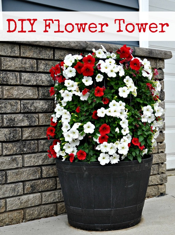 How to Make a Flower Tower {DIY}