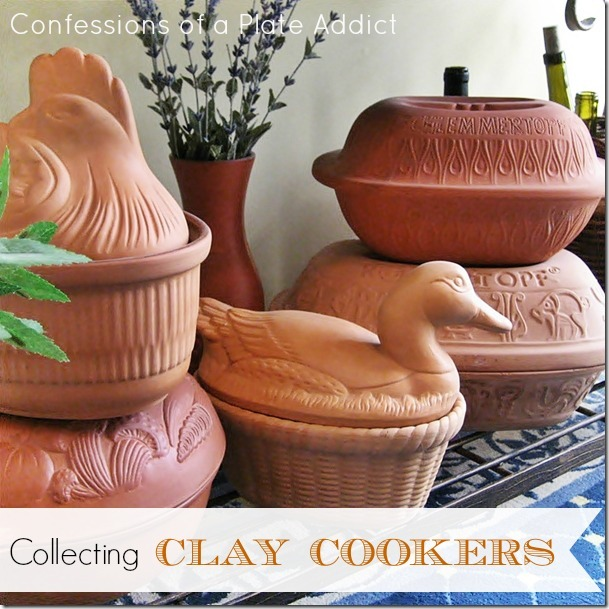 CONFESSIONS OF A PLATE ADDICT Collecting Clay Cookers...and a Recipe