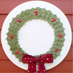 Gwen-Gwenny Penny-Felt Holly Wreath