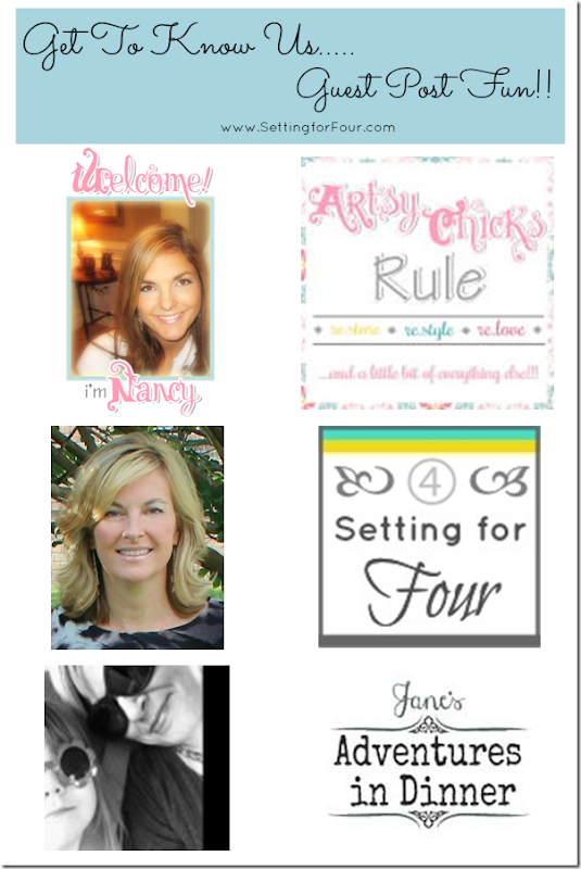 Get to Know Us - Guest Post Fun Part 2 from Setting for Four