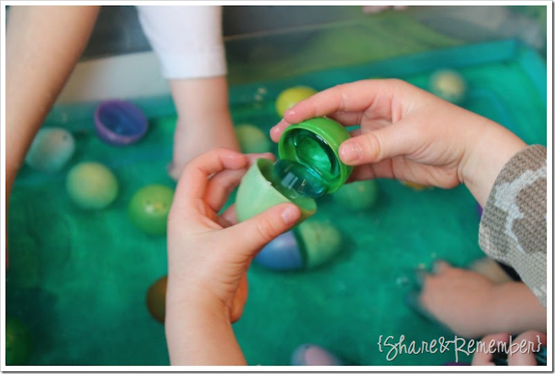 Water Bin Sensory Play for Easter