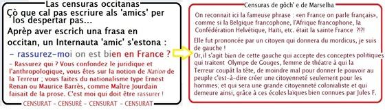 Las simbolicas republicanas francesas censura de Marselha