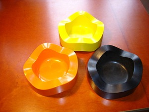 Helit Sinus ashtray yellow, orange, and black