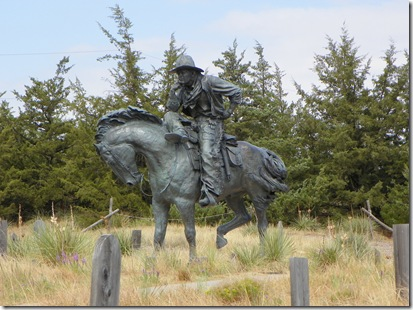 THE TRAIL BOSS by Robert Summers. Represents the Texas Trail.  There is an identical sculpture in Dallas, Texas
