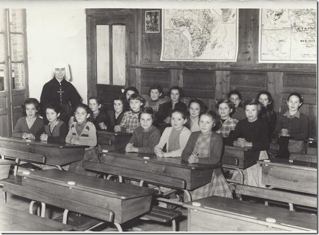 1950 école filles soeur solange