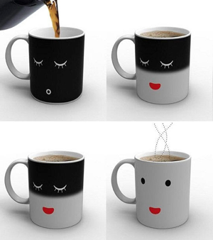 Wake-up coffe mug