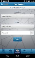 Screenshot of QIB Mobile