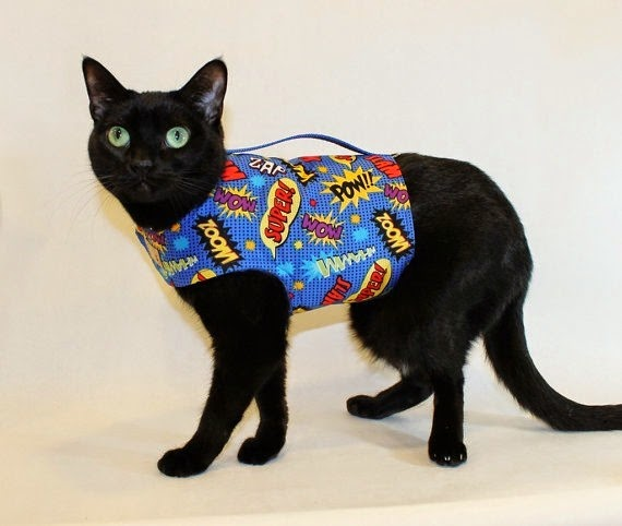 Super Hero Cat Harness from Rockin Dogs Cool Cats