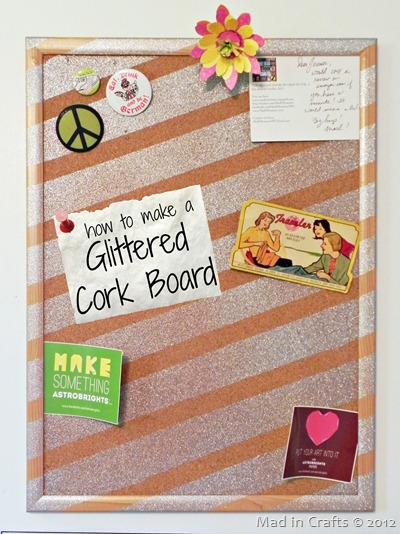 glittered corkboard graphic