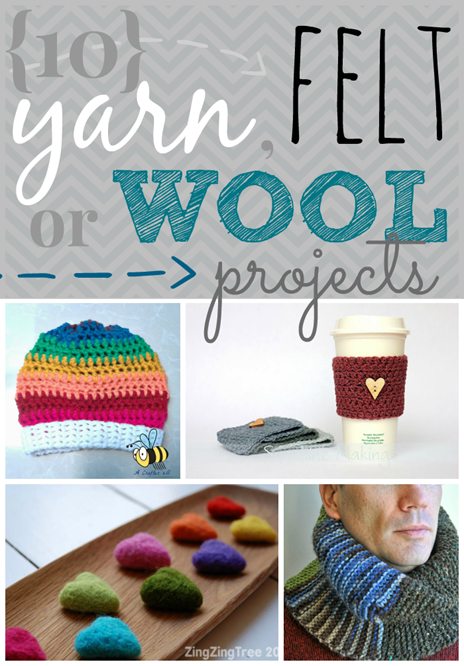10 Yarn, Felt or Wool Projects at GingerSnapCrafts.com #linkparty #features #wool #yarn #felt
