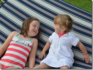 Reagan & Ryleigh on the hammock