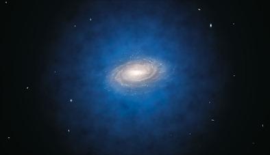 distribuição de matéria escura em torno da Via Láctea