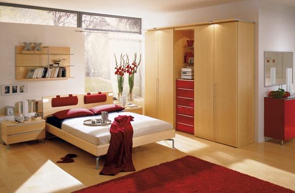 Dormitorios rojos