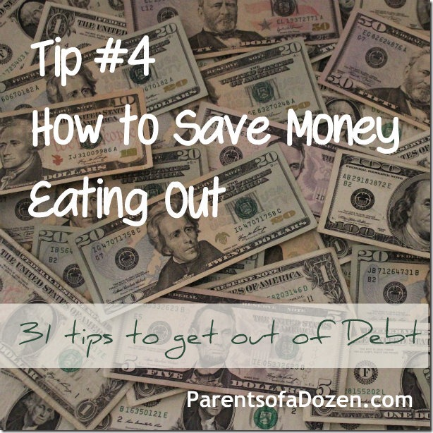 31 Tips to save money Eating Out