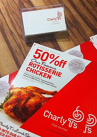 CHARLY T'S RESTAURANT ROTISSERIE CHICKEN OFFER AT 112 KATONG. NOMU SINGAPORE