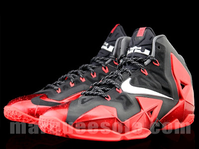 nike lebron 11 ss black red 3 02 Detailed Look at Nike LeBron XI (11) Black and Red Heat