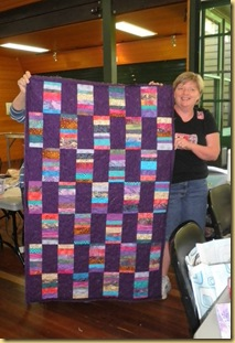 Vicki with quilt