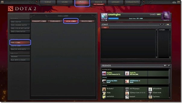 Dota 2 LAN - how to join a local lobby