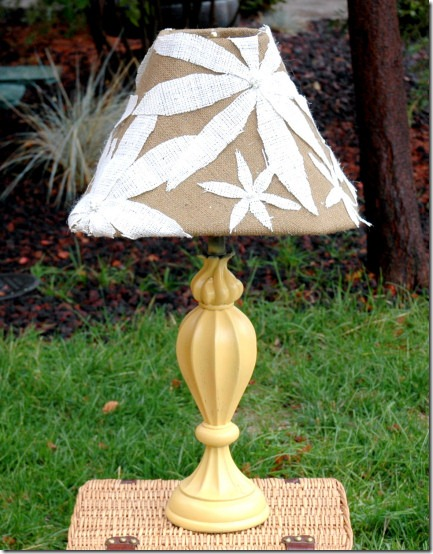 friday feature--anthropologie inspired lamp shade from the turquoise piano blog