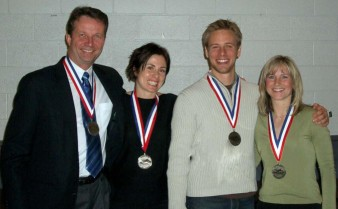 Mixed Nationals (4-person) 2007, silver medal winners. Team (L-R): Lyle Sieg, Christina Pastula (WA), Brannon Wells, Candace Seip