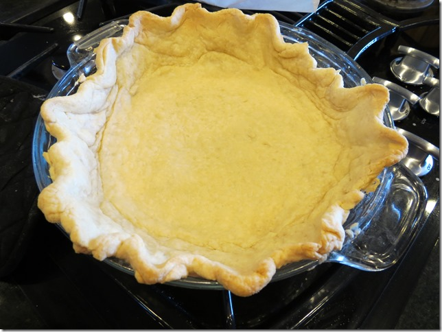 Shrunken pie crust