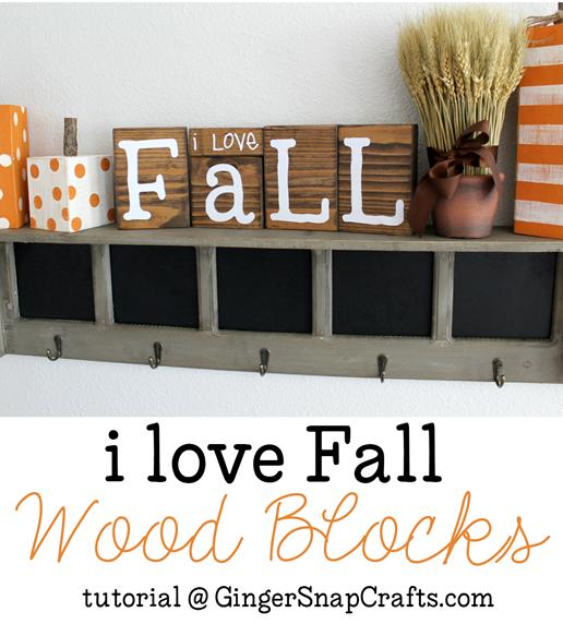 I love Fall Wood Blocks tutorial at GingerSnapCrafts.com #fall #wood #vinyl #SilhouettePortrait
