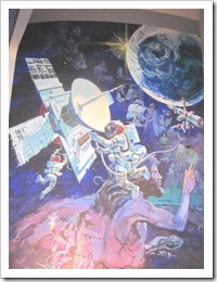 Florida vacation Epcot space exploration mural