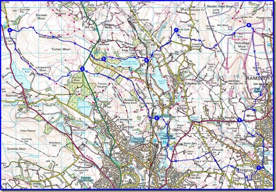 The Two Crosses route - 25 miles, 1000 metres ascent, in 9 hours