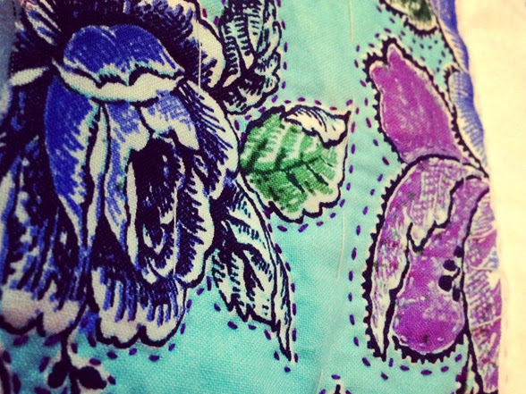 Hand Quilting the Purple Haze {Project}