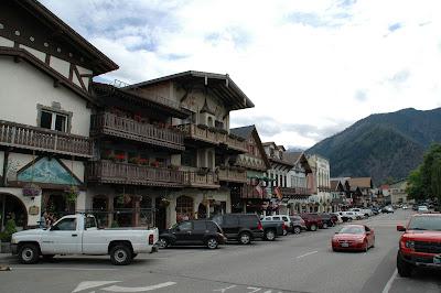 Leavenworthの町並み