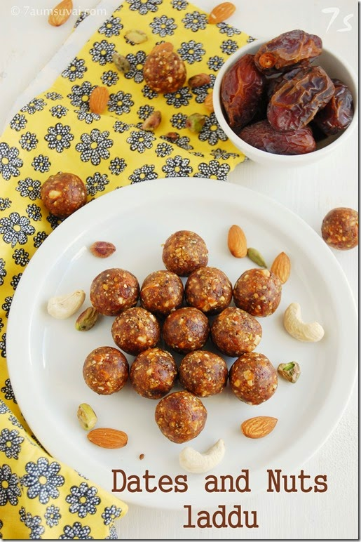 Dates and nuts laddu
