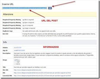 debug facebook pulsante