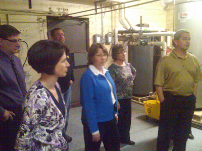 School board members hear from Dan Culp about the new boilers