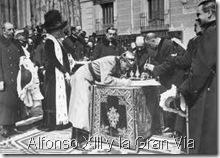 Alfonso XIII y la Gran Vía