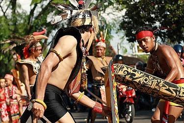 Gawai festa del Sarawak Malesia
